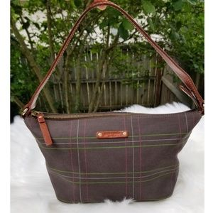 Kate Spade Plaid Canvas Hobo Shoulder Bag